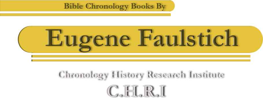 Bible Chronology Books By Eugene Faulstich